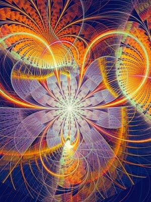 Adesivo Fiore astratto immagine strisce generate al computer