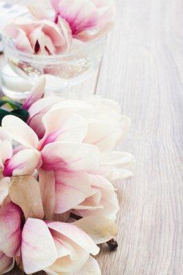 Adesivo fiori di magnolia
