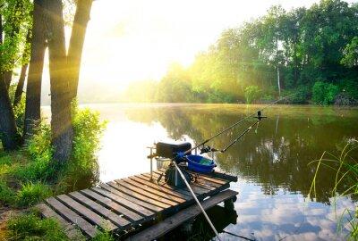 Adesivo Fishing on river