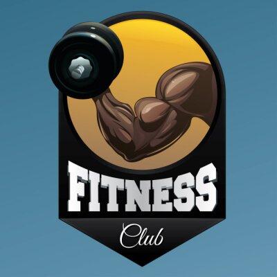 Adesivo Fitness club emblema illustrazione