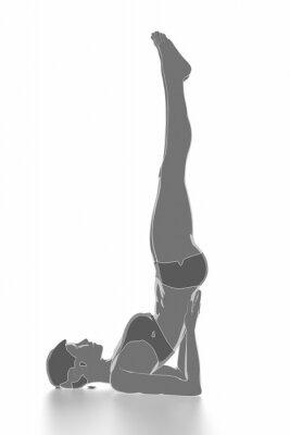 Adesivo Fitness e stretching su bianco isolato - concetto di riscaldamento