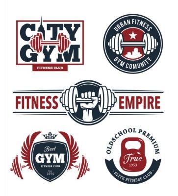 Adesivo Fitness emblemi Set