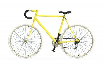 Adesivo Fixed gear bicicletta città a colori di miscelazione isolato sfondo