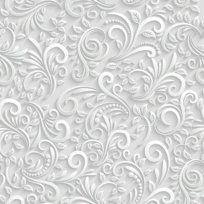 Adesivo Floral 3d Seamless