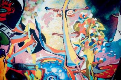 Adesivo Fond abstraite peinture