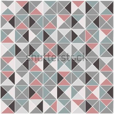 Adesivo Fondo geometrico senza cuciture del modello di colore del rombo del quadro televisivo