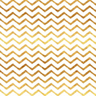 Adesivo Fondo Oro Faux Foil Chevron Metallic White Pattern