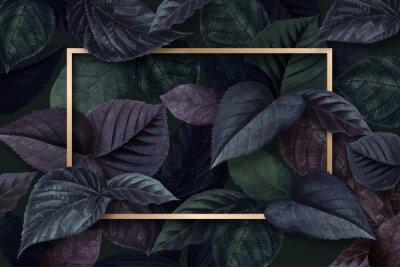 Adesivo Forest leaf frame