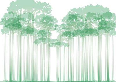Adesivo foresta su sfondo neutro