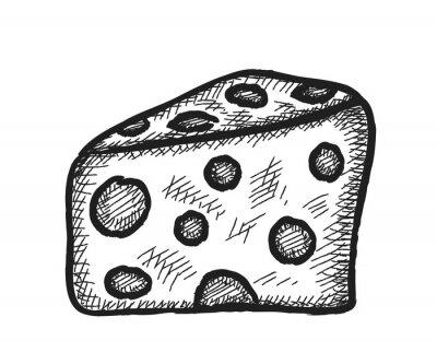 Adesivo formaggio Doodle