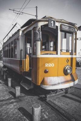 Adesivo foto desaturato del carrello Porto tranne che per la sua particolare giallo.