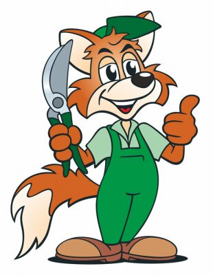 Adesivo Fox Gardener
