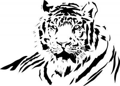 Adesivo fronte della tigre