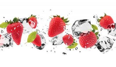 Adesivo Frutta ghiaccio su sfondo bianco