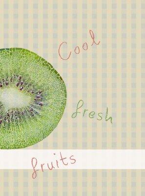 Adesivo Frutta tema di fondo