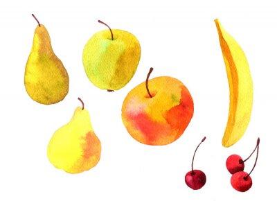 Adesivo frutti di disegno acquerello