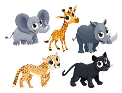 Adesivo Funny african animals