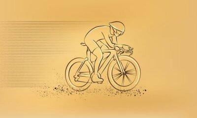 Adesivo Gara ciclistica. Vettore Retro disegno illustrazione.