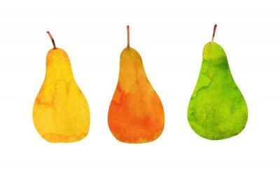 Adesivo giallo, arancio, verde pere isolate
