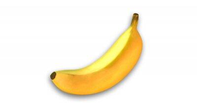 Adesivo giallo banana, frutta isolato su sfondo bianco