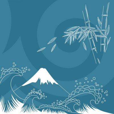 Adesivo Giappone illustrazione stile