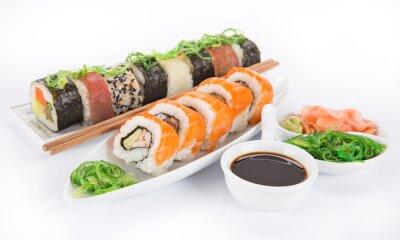 Adesivo Giapponese set seafood sushi