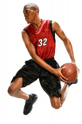 Adesivo Giocatore di basket Dunking sfera