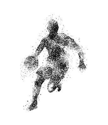 Adesivo giocatore di basket, silhouette