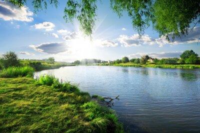 Adesivo Giorno su un fiume