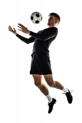 Adesivo Giovane bionda calcio uomo giocare