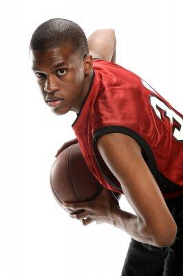 Adesivo Giovane giocatore di basket nero