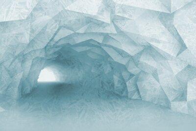 Adesivo Girando luce interna del tunnel blu, con sollievo di cristallo