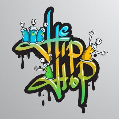 Adesivo Graffiti caratteri di parola di stampa