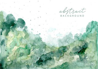 Adesivo green abstract watercolor texture background
