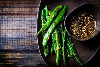 Adesivo green beans in sesame Asian sauce