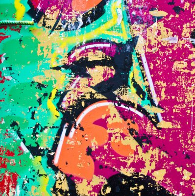 Adesivo Grunge colorato metal background