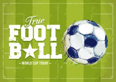 Adesivo Grunge Football Poster