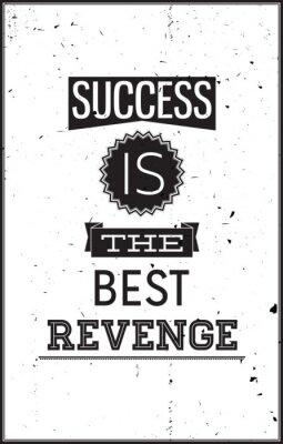 Adesivo Grunge poster motivazionale. Il successo è la miglior vendetta