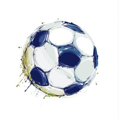 Adesivo Grunge Soccer Ball