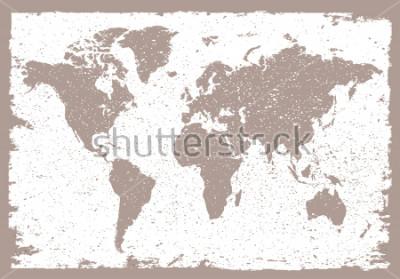 Adesivo Grunge world map.Vintage map of the world.