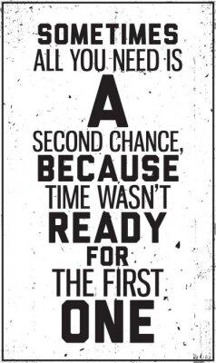 Adesivo Grungy manifesto motivazionale. Decorazione di interni