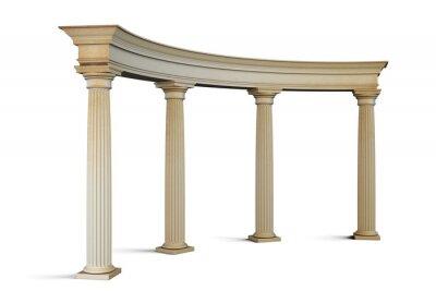 Adesivo gruppo Ingresso con colonne in stile classico su un bianco. 3