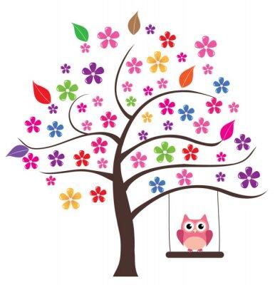 Adesivo Gufo In The Tree