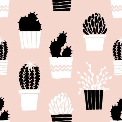 Adesivo Hand Drawn Cactus pattern