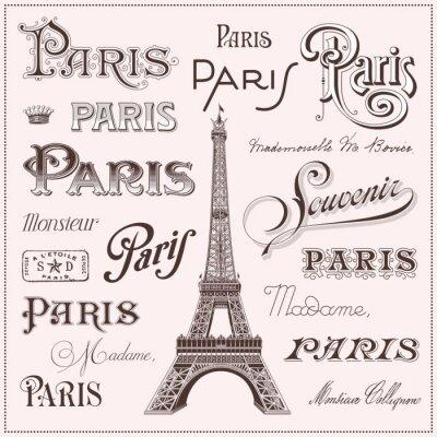 Adesivo hand drawn Paris design elements
