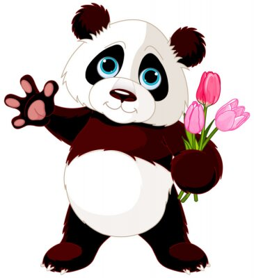 Adesivo Happy Panda