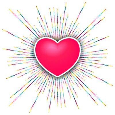 Adesivo happy valentines day sfondo di celebrazione