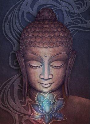 Adesivo Head Smiling Buddha