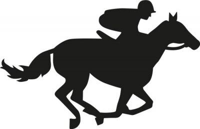 Adesivo Horse silhouette gara