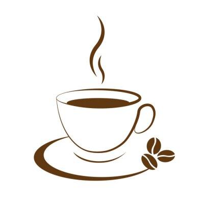 Adesivo hot coffee cup icon